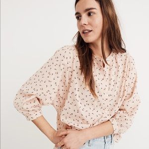 Madewell Peasant Top in Delicate Floral